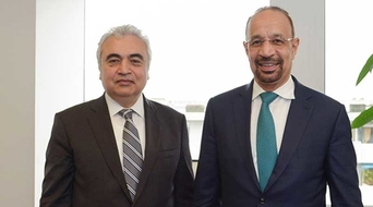 Saudi energy minister meets IEA executive director
