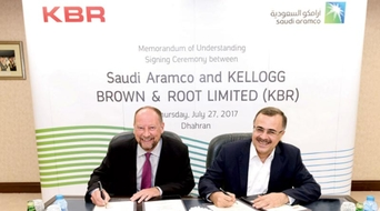 Saudi Aramco, KBR sign MoU to boost in-Kingdom procurement of services