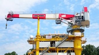 Petrogas commissions crane for North Sea platform