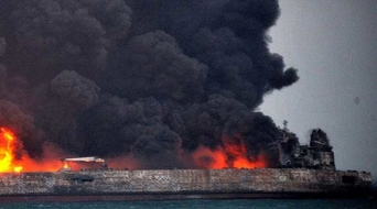 Iranian tanker still ablaze off China's coast