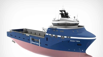 LNG powered platform support vessel launched
