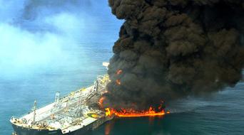 Nine crewman still missing after tanker collision