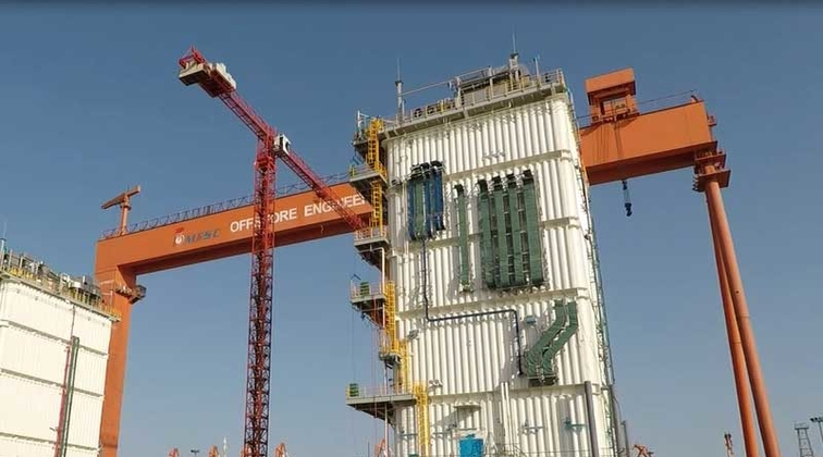 Setting world record, ABB completes tallest e-houses on floating LNG facility