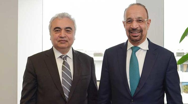 Saudi energy minister meets IEA executive director