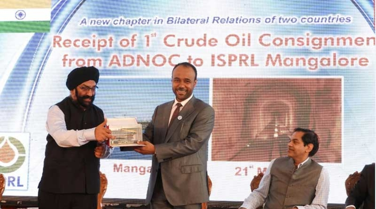 Two million barrels of ADNOC crude oil delivered to ISPRL facility in India