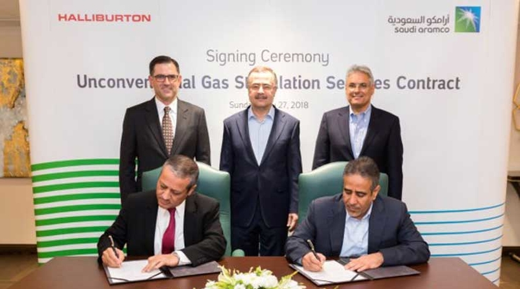 Halliburton wins Aramco contract for unconventional gas stimulation services