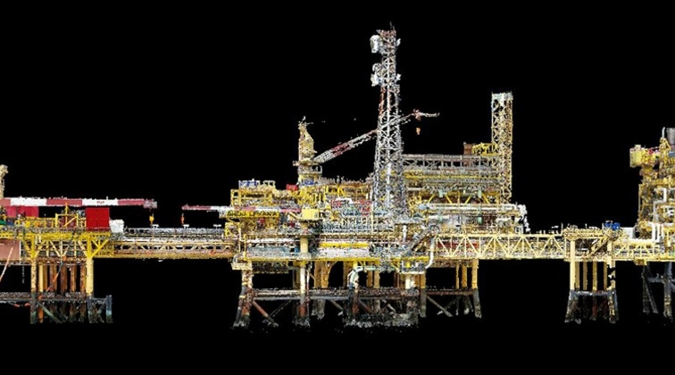 Terra Drone Europe conducts oil rig platform survey and 3D modeling for Shell