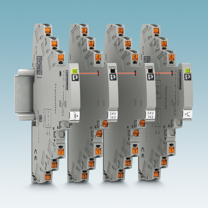 Remote signaling sets, which are available as an option, monitor up to 40 protection modules.