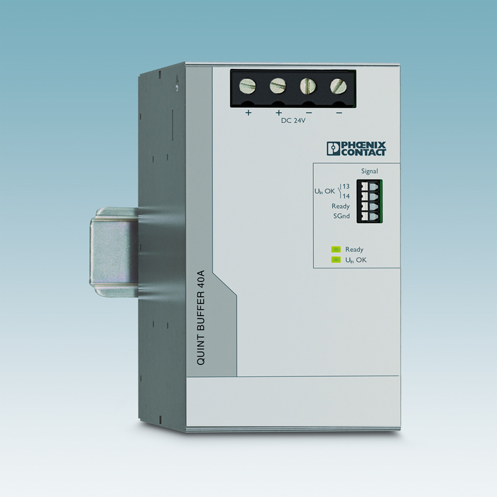 The soft start means that the buffer modules can also be used in combination with power supplies in the low power range.