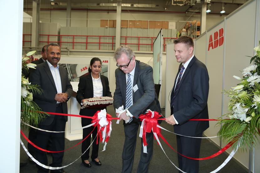 The opening ceremony took at ABB's Al Quoz premises in Dubai.