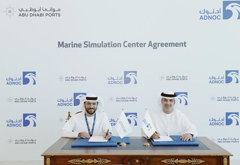 ADNOC and Abu Dhabi Ports sign an agreement to establish a joint marine simulator centre in Musaffah, Abu Dhabi.