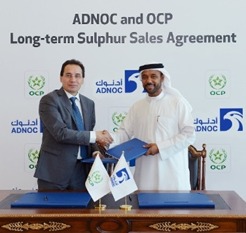 The agreement with OCP, which is unique in the sulphur industry, strengthens ADNOCs position as one of the worlds largest exporters of sulphur.
