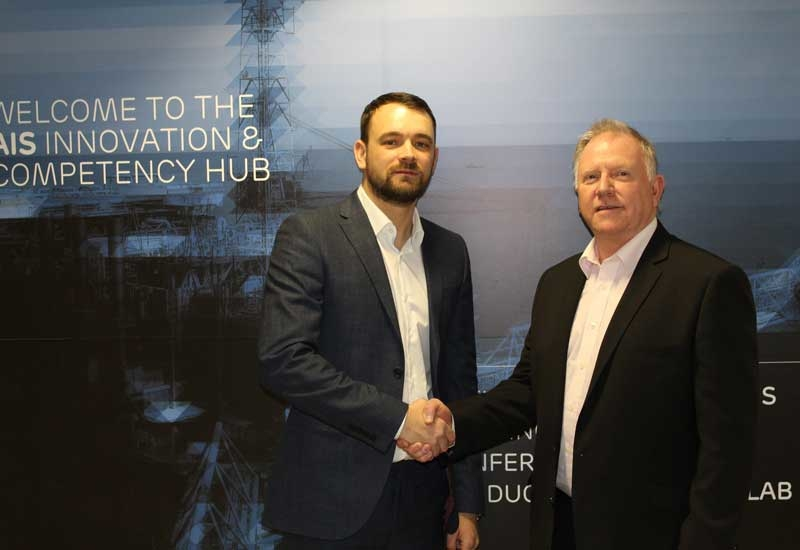 Gavin Taylor (left), commercial director, AIS Training, and Craig Menzies from Restrata, after announcing the partnership.