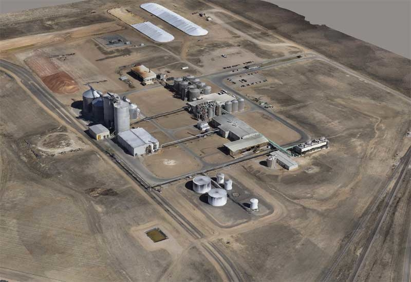 A drone was able to survey this 200-acre ethanol plant site in one hour. (Image courtesy: FlightlineGeo)