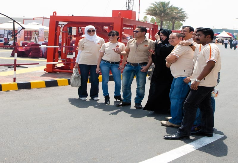 Employees at Al Mansoori's base in Mussafah, Abu Dhabi, enjoying open day.