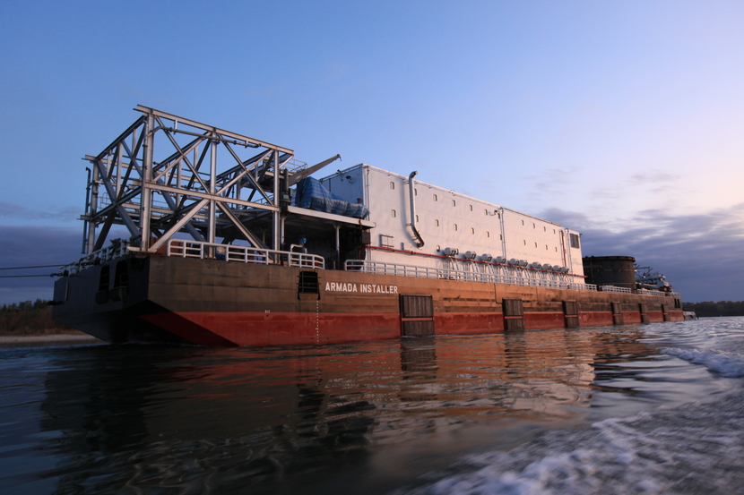 Bumi Armada's Installer, which will lay pipes for Momentum Engineering in the Caspian.