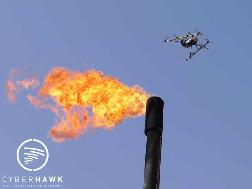 Cyberhawk's Unmanned Aerial Vehicle (UAV).