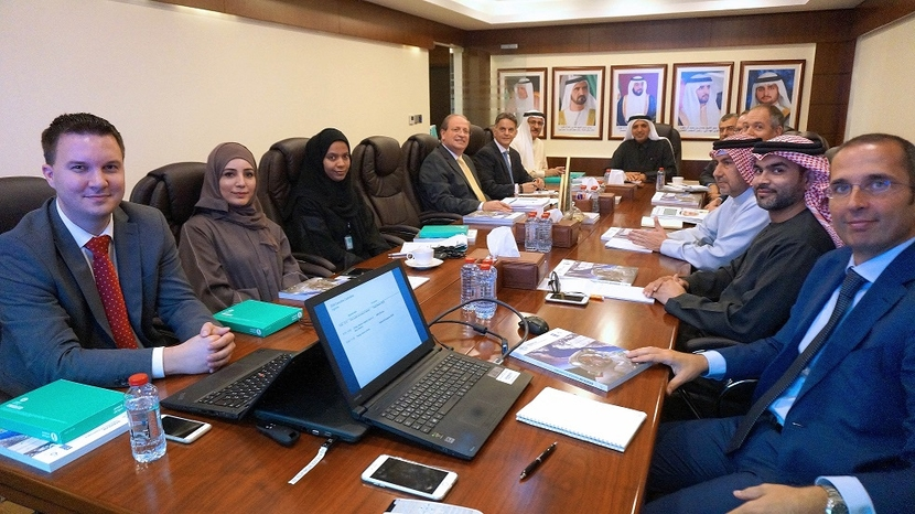 A photo from the 10th meeting of the Executive Committee of the Dubai Supreme Council of Energy.