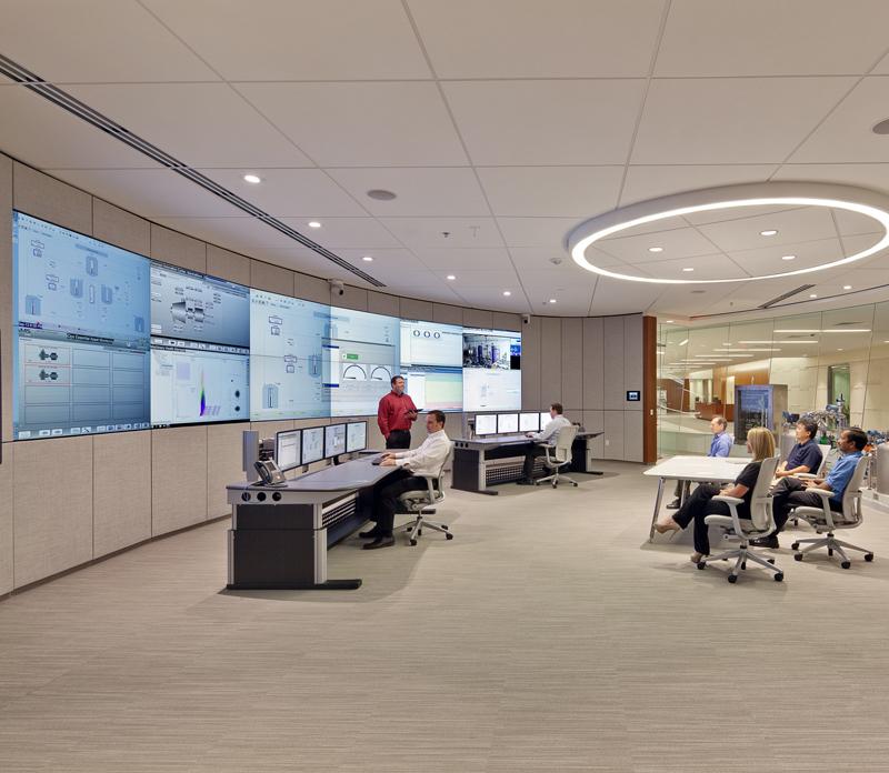 Emerson's digital oil field control room. Picture courtesy of Emerson.