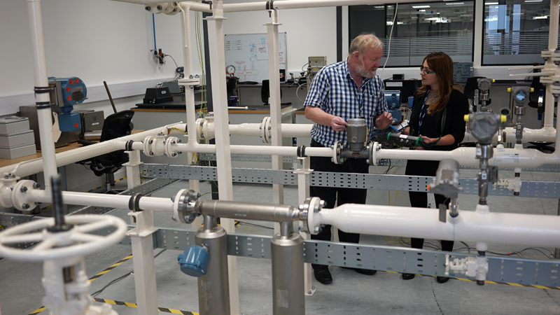 Emerson's new education facilities in Aberdeen include a live liquid flow loop – the first of its kind in the UK – which has three metering streams that can be run in a number of different configurations.
