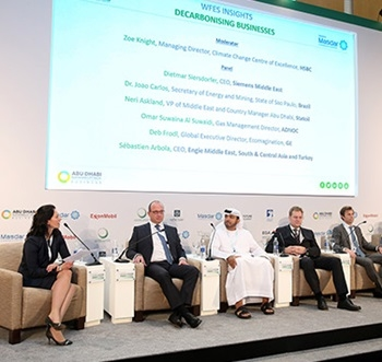 ADNOC's energy efficiency plans were announced during the World Future Energy Summit, held as part of the Abu Dhabi Sustainability Week Exhibition and Conference.