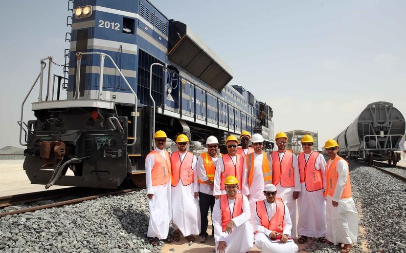 Etihad Rail board members at the Western Region.