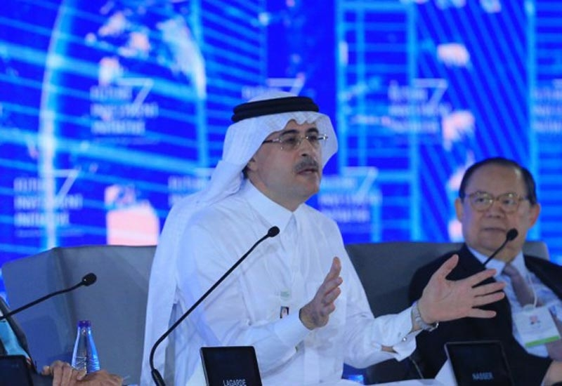 Amin Nasser, president and CEO, Saudi Aramco, takes part in the first panel discussion of the Future Investment Initiative 2017.