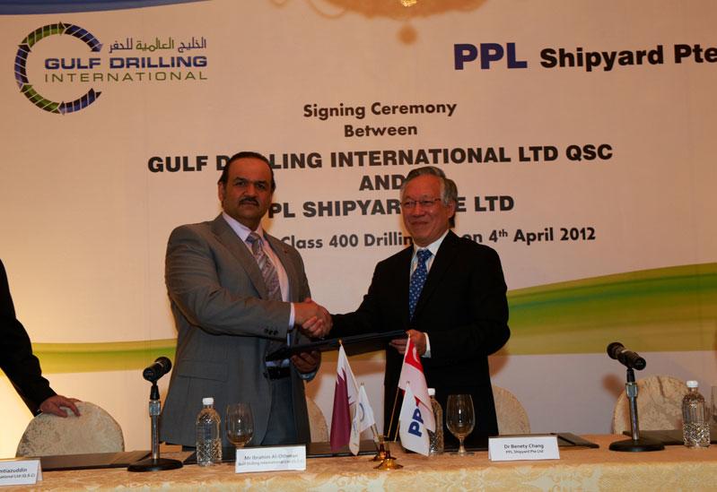 GDI Chief Executive Officer, Ibrahim J. Al-Othman and Dr. Benety Chang, Deputy Chairman of PPL Shipyard.