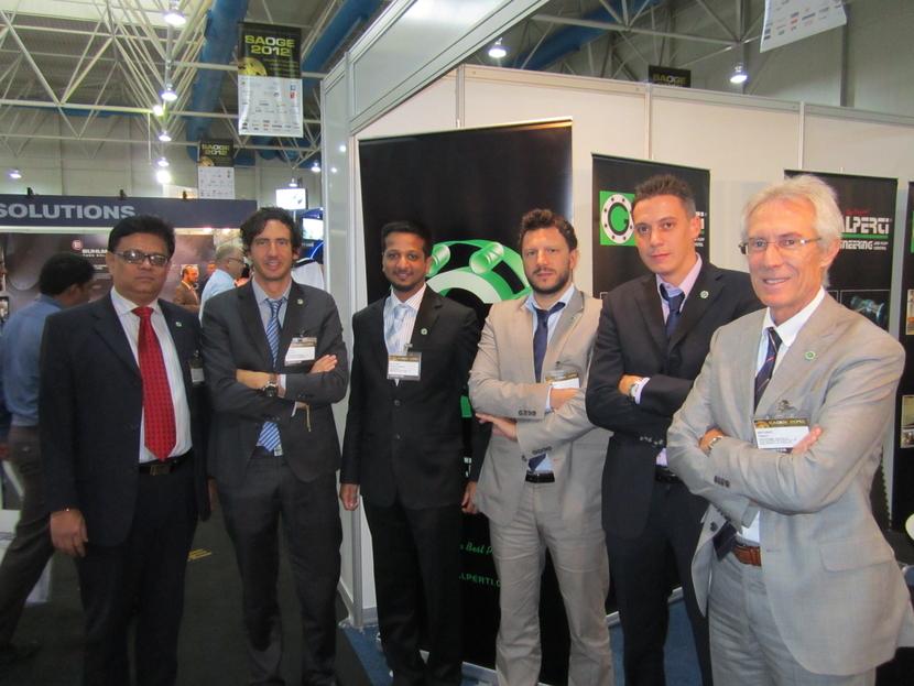 The Galperti team, including Andreas Galperti (second left) at SAOGE 2012 in Dammam.