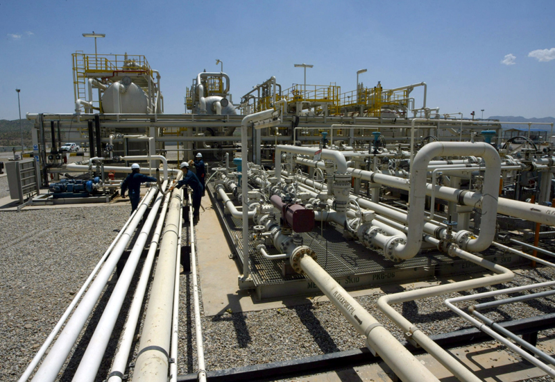 Gas pipeline installation.