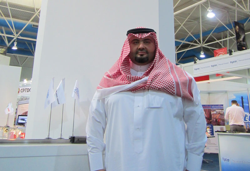 Gulf Ocean Trading?s Managing Director, Mohammed Samir Odeh at SAOGE in Dammam.