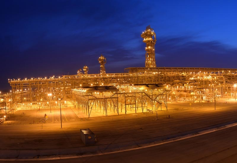Hawiyah gas plant of Saudi Aramco.
