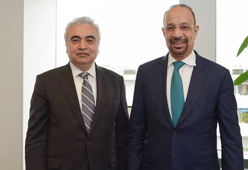 IEA executive director Dr Fatih Birol (left) and Khalid A Al-Falih, Saudi Arabias minister of energy, industry and mineral resources. (Image courtesy: IEA)