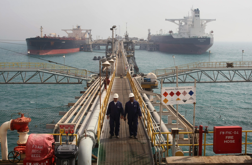 Oil exports from the south accounted for almost all of the uplift in exports in March. GETTY IMAGES
