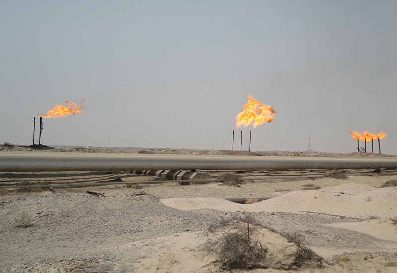 A gas field in Iraq.