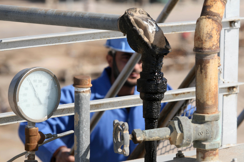 """Drillers first encountered oil at Dima back in January, a """"surprise"""" discovery that was lauded by oil minister Abdul Kareem al-Luaibi. GETTY IMAGES"""