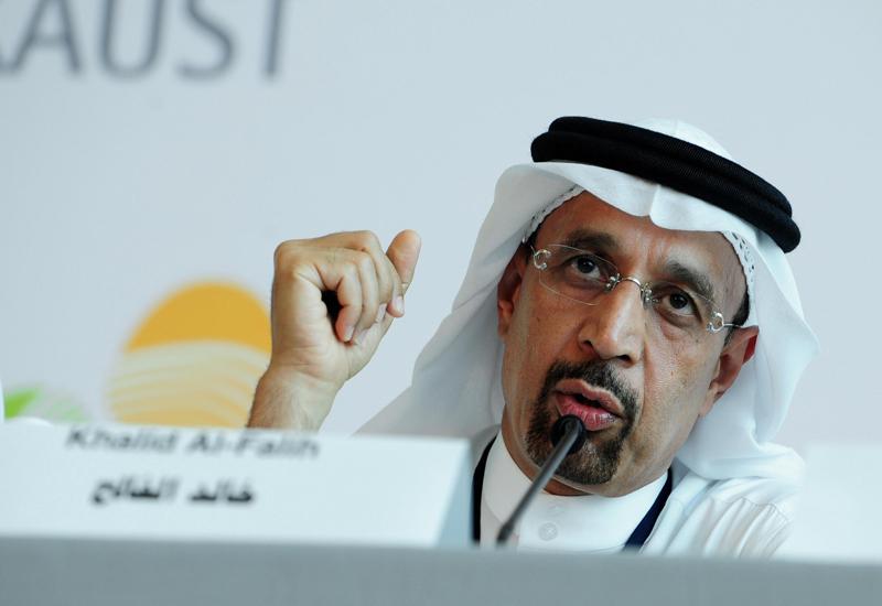 A file photo of Aramco chairman Khalid Al-Falih.
