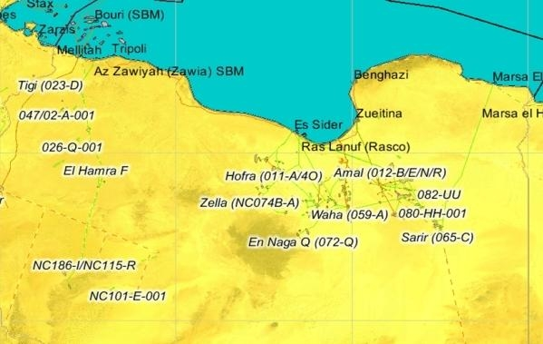 Libya's maximum oil export capacity is 1.4mbpd.