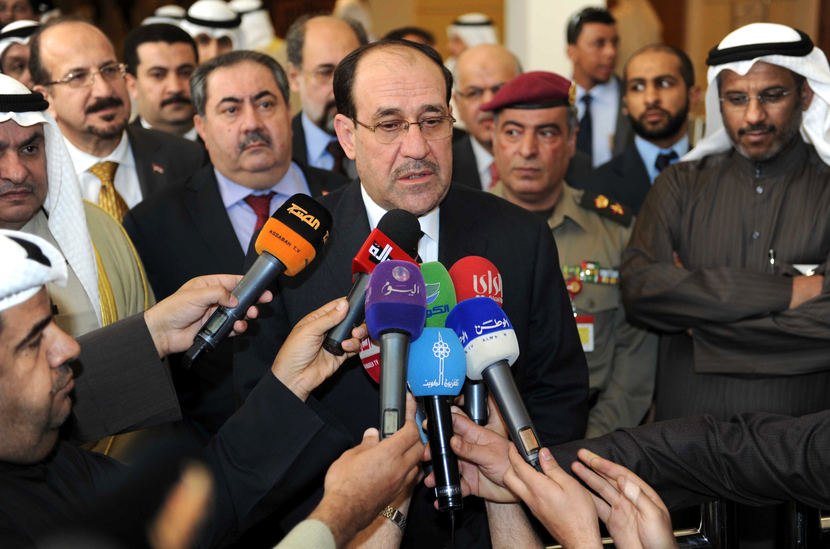Iraqi PM Nouri al-Maliki has written to the White House asking for intervention to quash Exxon's deals with the KRG. GETTY IMAGES