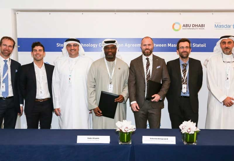 The agreement was signed by Bader Al Lamki, Masdar's executive director for clean energy, and Sebastian Bringsvrd, head of Hywind Development in New Energy Solutions.
