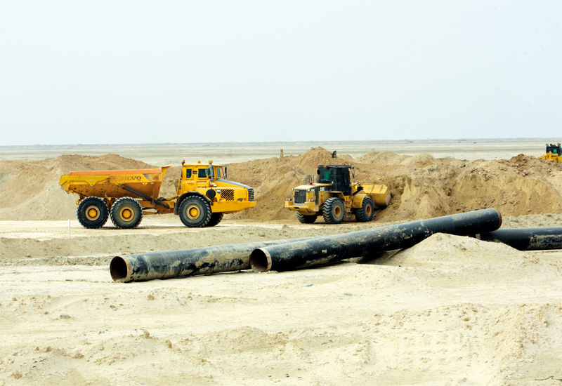Massive infrastructure projects to develop Iraq's oil production capacity are underway throughout the country.