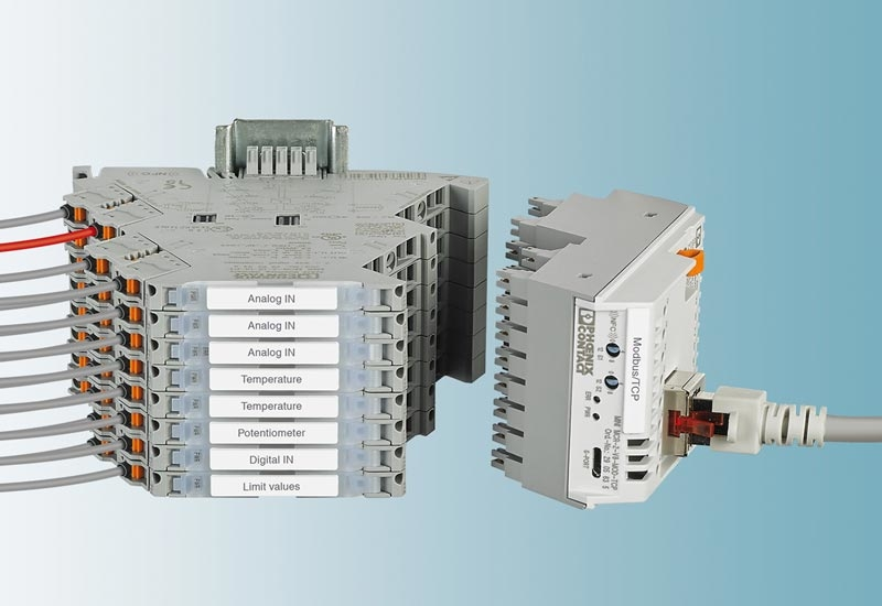 Mini Analog Pro signal conditioners from Phoenix Contact.
