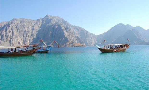 Known for its tourist attractions, Musandam is strategically important enclave of Oman in the north, overlooking the Strait of Hormuz.