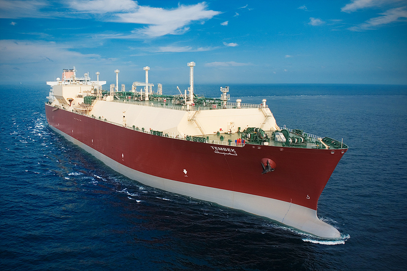 The LNG vessel remains at anchor while further checks are being made