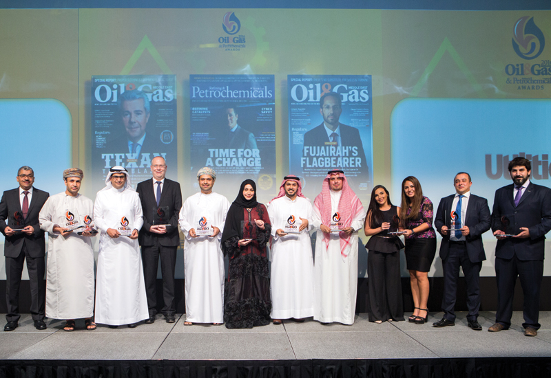 Oil & Gas Middle East and Refining & Petrochemicals Middle East 2016 Award winners.