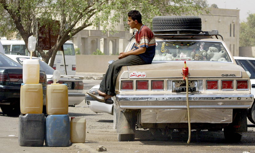 Oil smuggling in Baghdad, 2005. Is the 'International Centre for Development Studies' an authority on the subject? GETTY IMAGES
