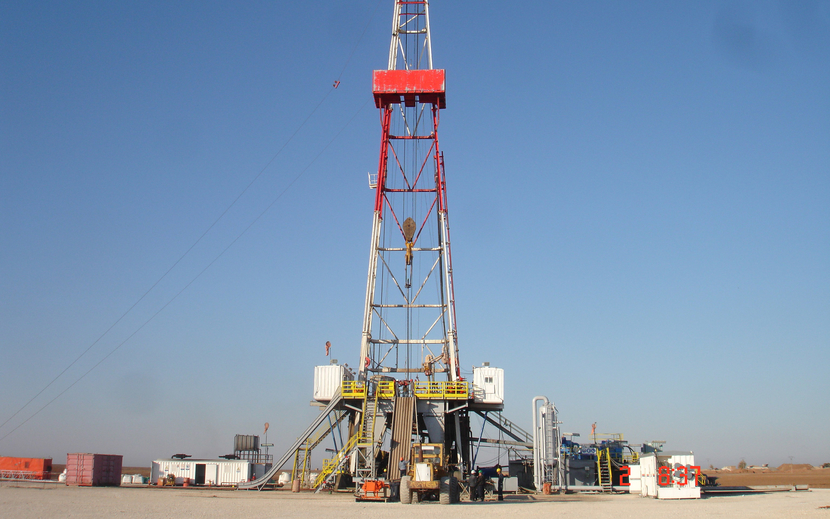 During production testing, the well produced gas flowed at up to a rate of 33 million standard cubic feet per day.