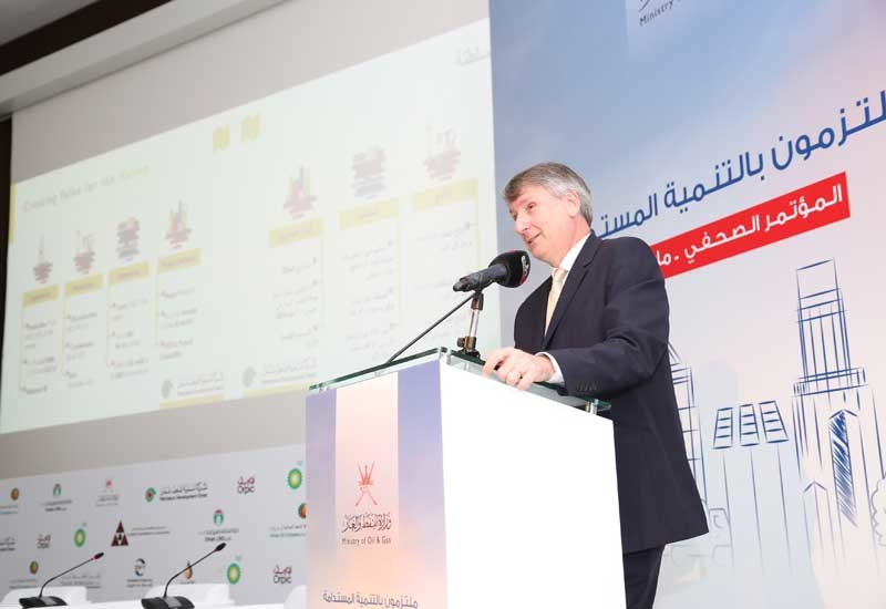 Raoul Restucci, managing director, PDO, at the annual ministry of oil and gas media briefing.