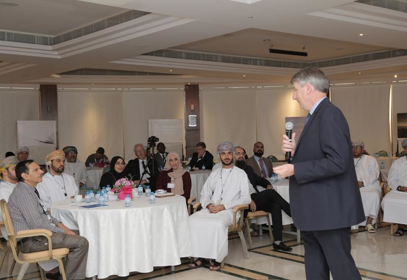 Raoul Restucci (standing), managing director, PDO, addresses auditors at PDO's Learning and Development Centre.