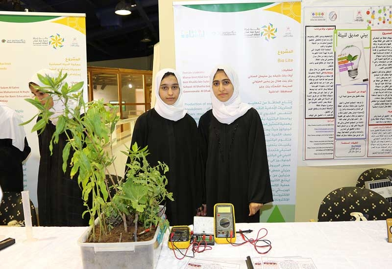 PDO also organised an exhibition of the ideas of the Omani students and entrepreneurs who won in two new competitions to promote the use of greener energy.